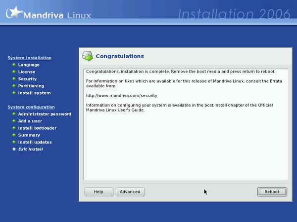 Install screenshot
